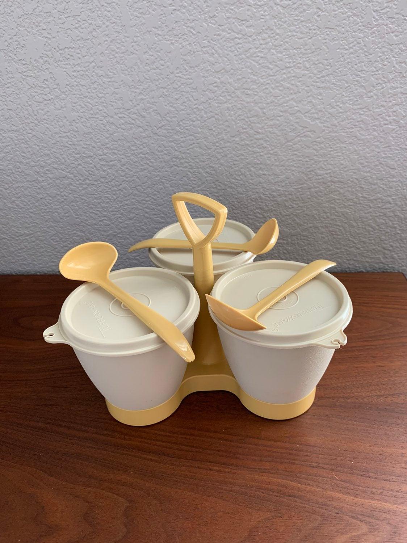 Vtg Tupperware Condiment Caddy Complete