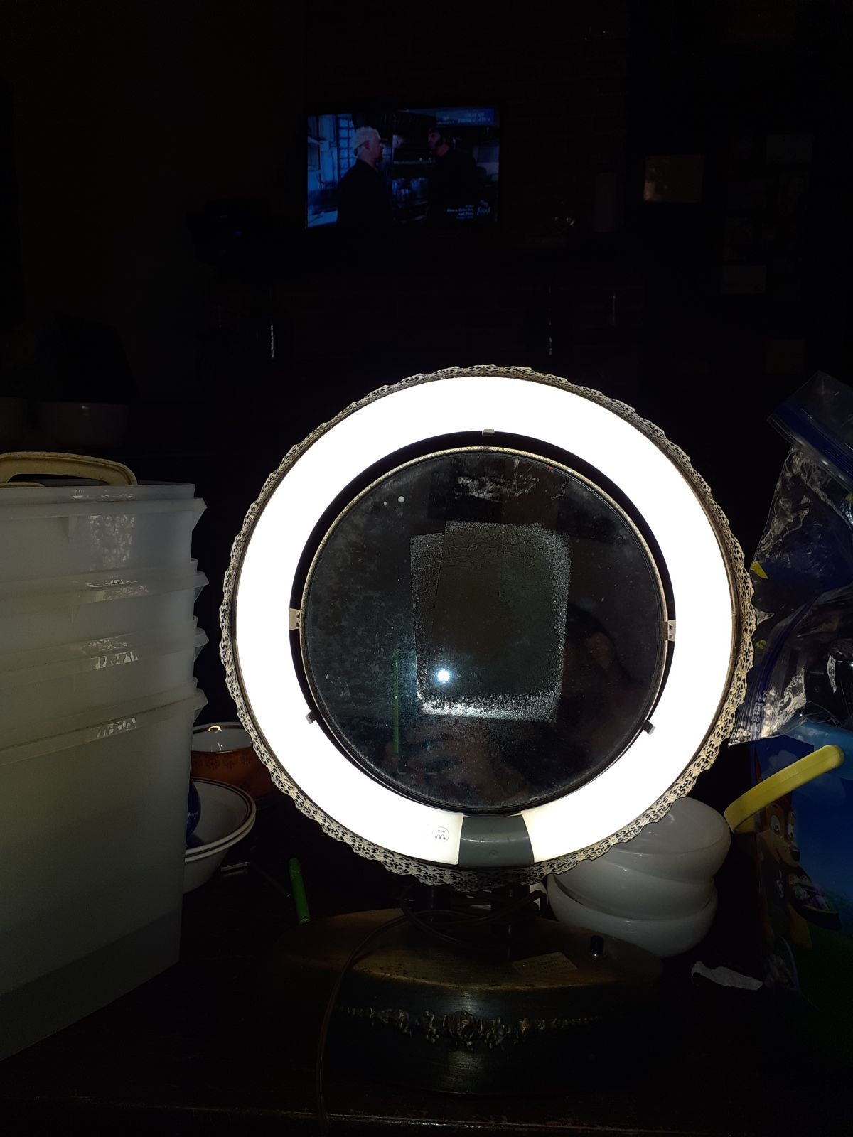 Vintage Ring Light Vanity Stand Swivel M