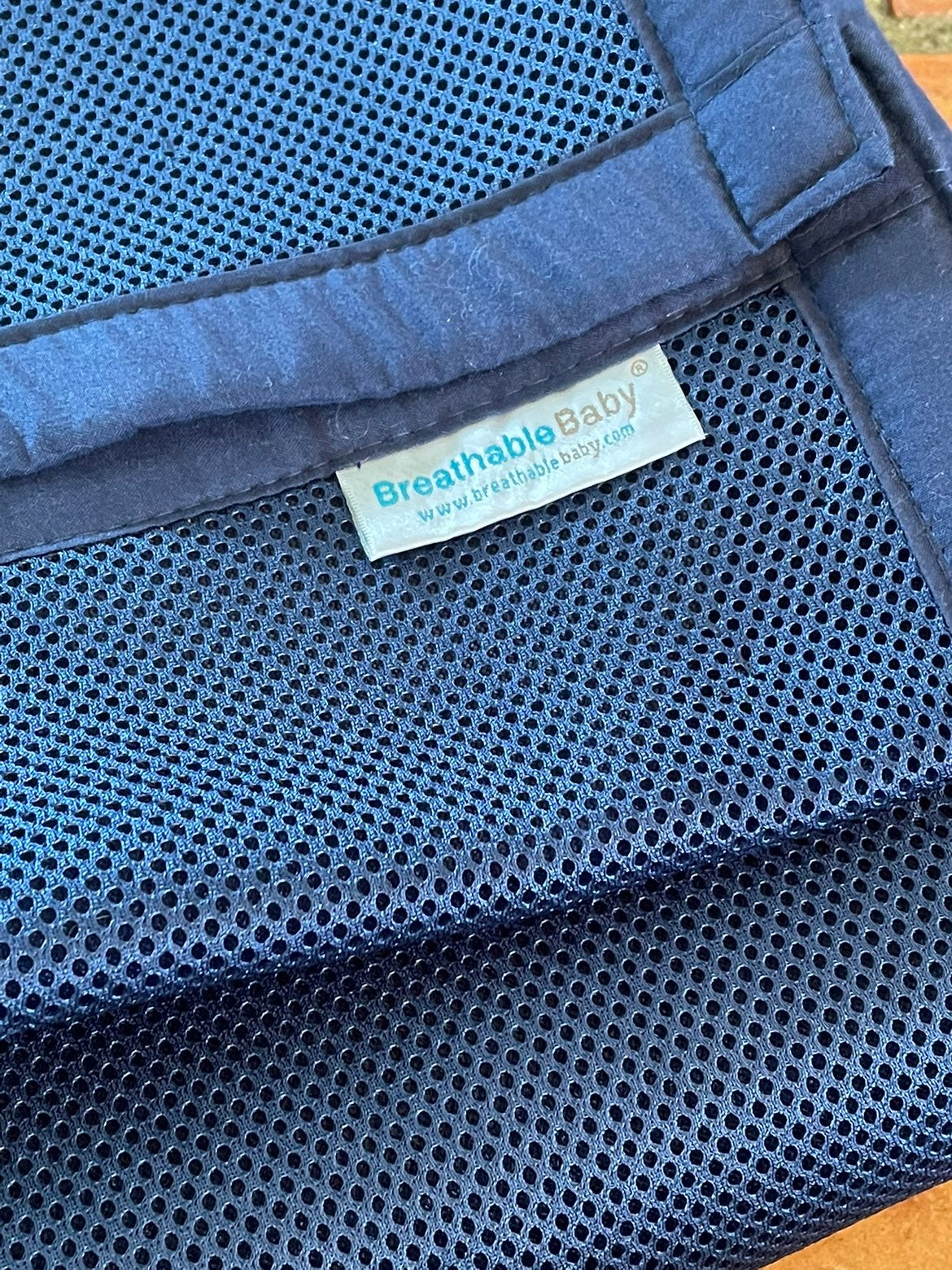 BreathableBaby mesh crib liner Navy