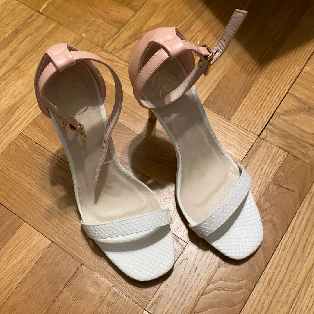 New Missguided Pink/white heels 6