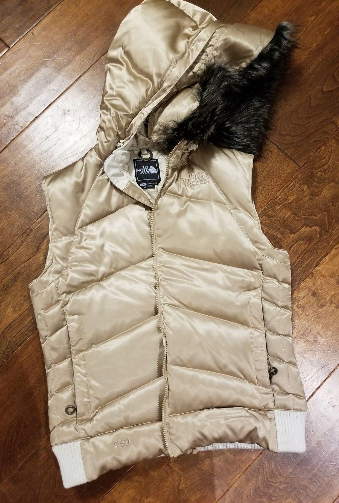 North Face Metallic Gold Vest size lg