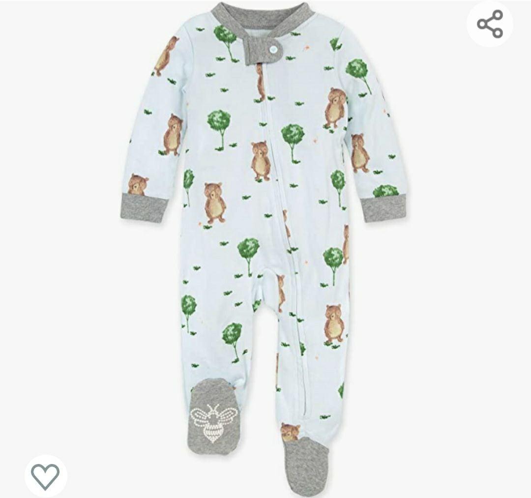 Burts Bees Baby storybook bear pajamas