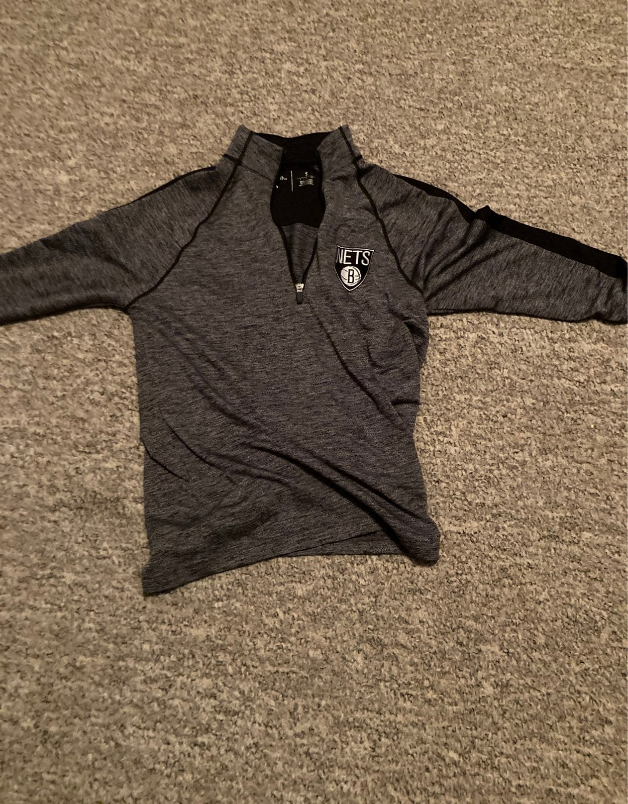 brooklyn nets warm up half zip jacket