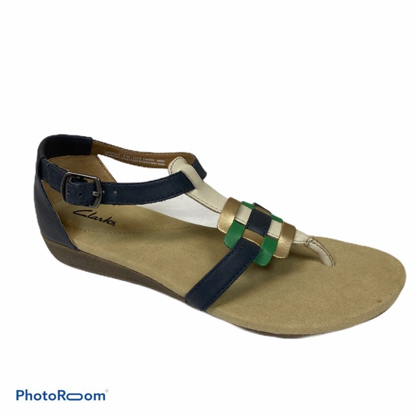 Clarks multicolor strappy leather sandal