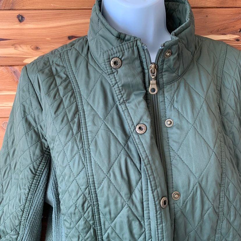 Merona olive utility quilt jacket coat L
