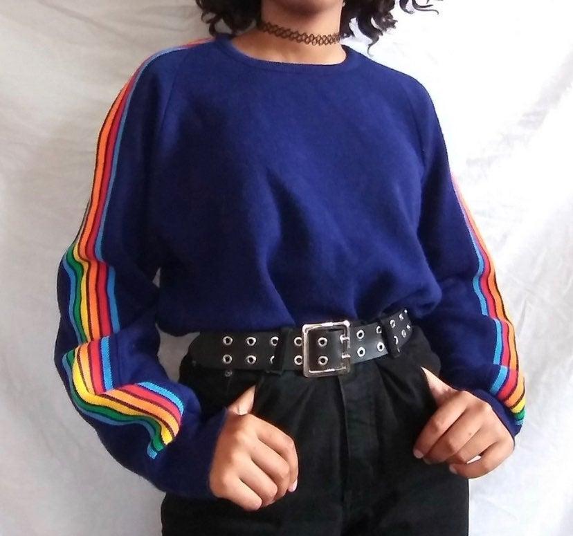 Retro Blue Sweater