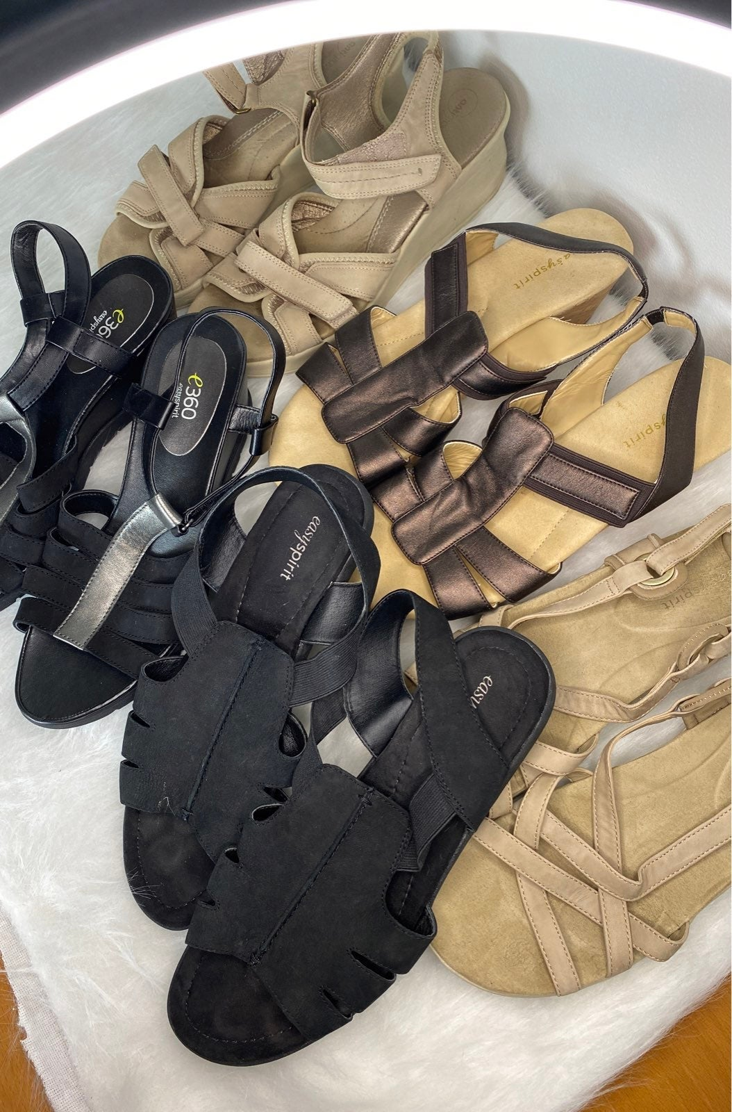 Easy spirit sandal lot ~ 5 pairs!