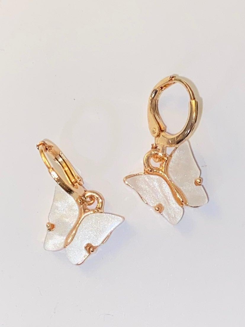 Butterfly Earrings hoops