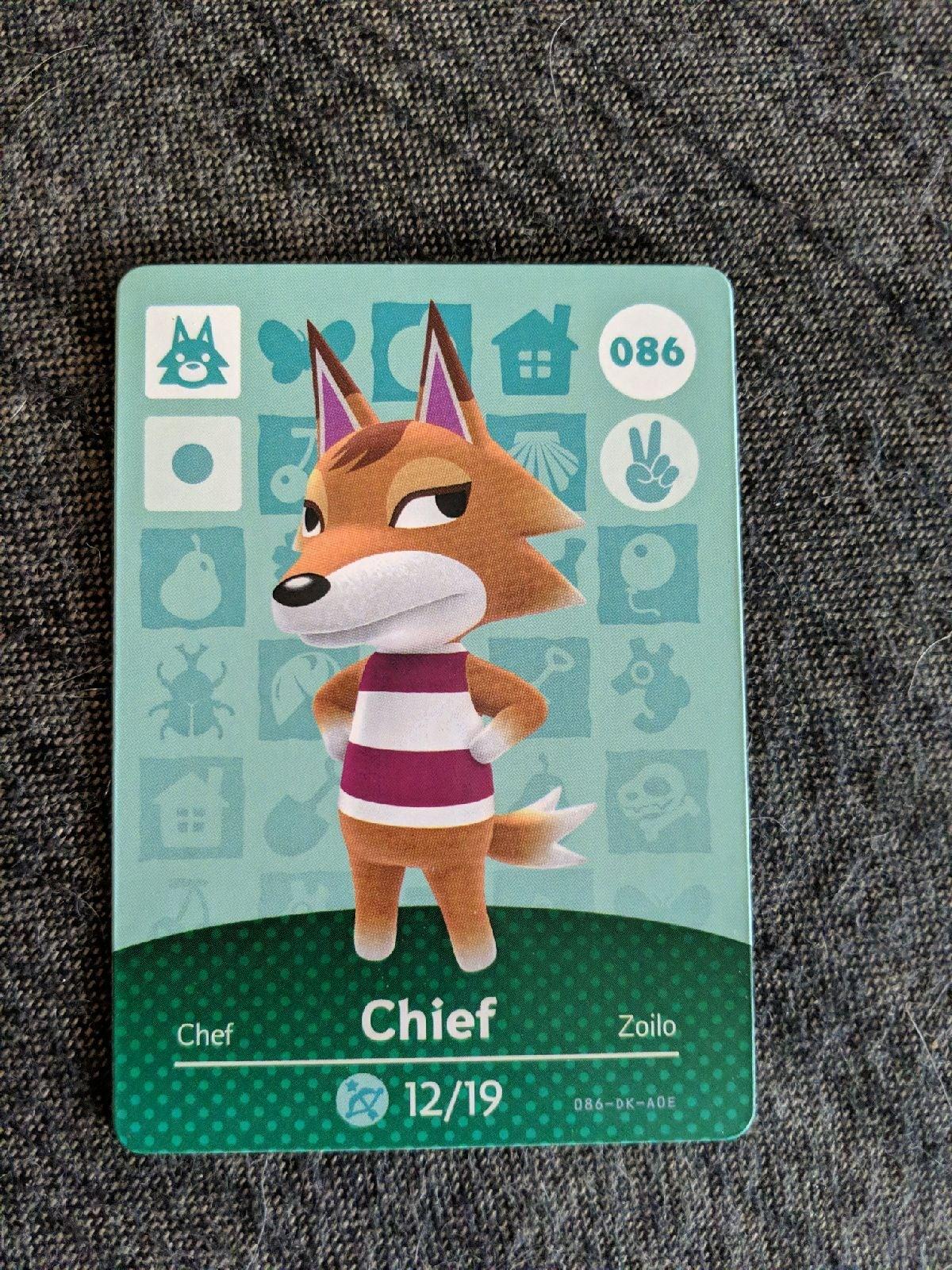 Cheif - Animal Crossing Amiibo Card