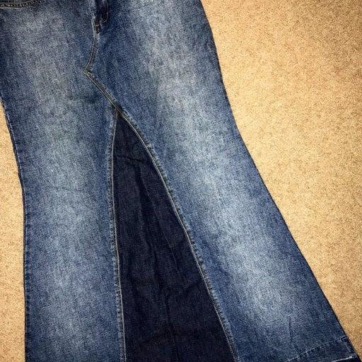 Crest Jeans Long Denim Skirt Sz 7/8