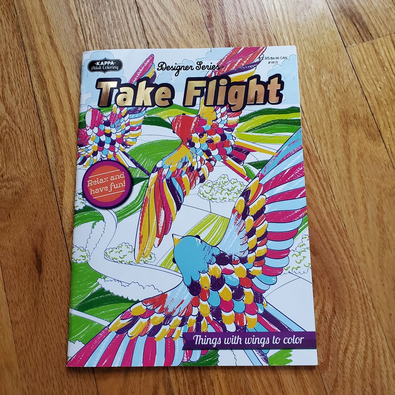 TAKE FLIGHT Adult Coloring Book BIRDS