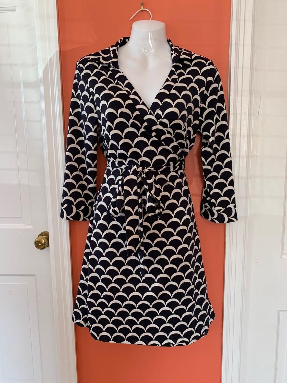 Julie Brown Milo collar wrap dress