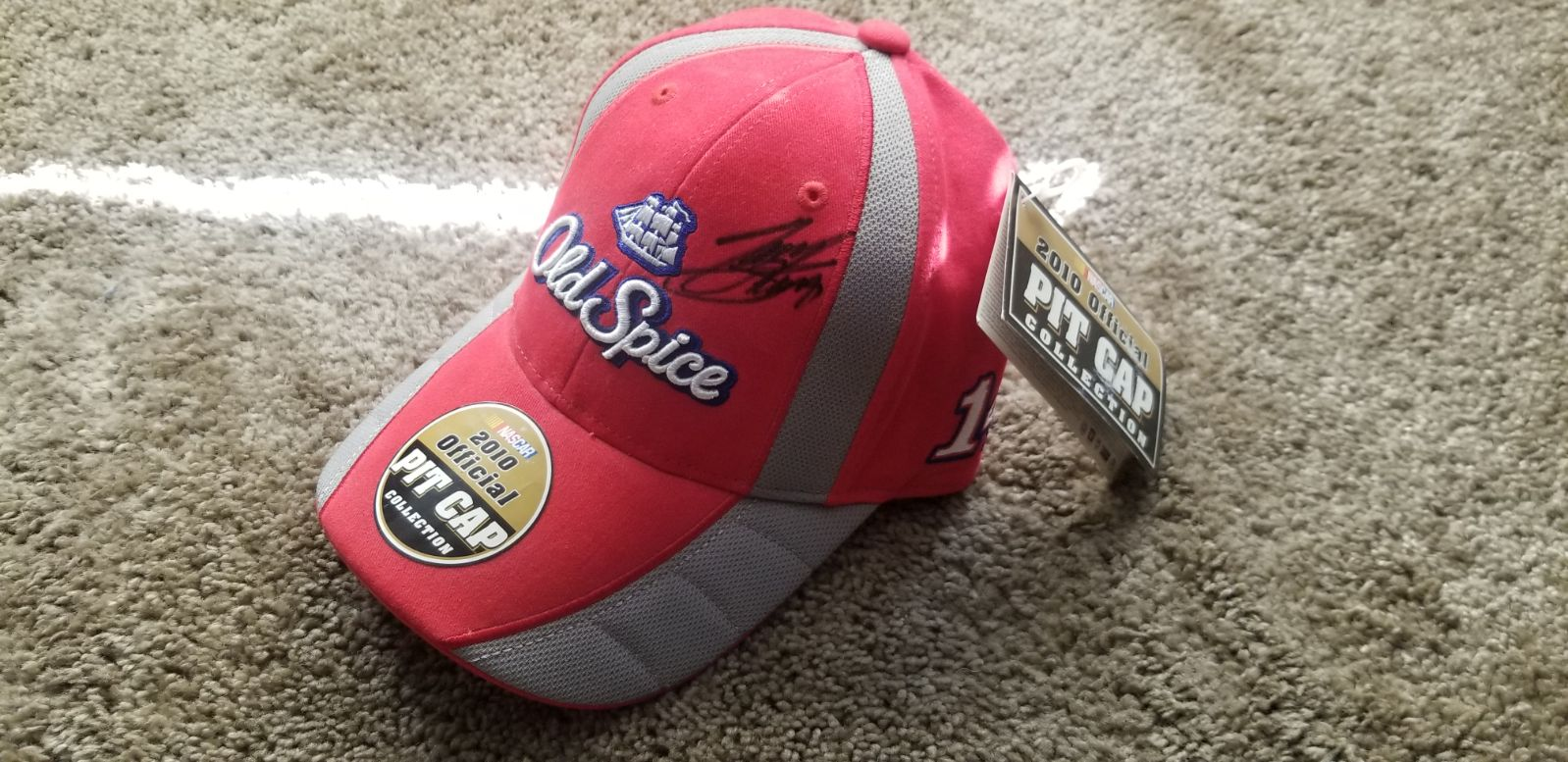 Tony Stewart old spice 14 autographed ha