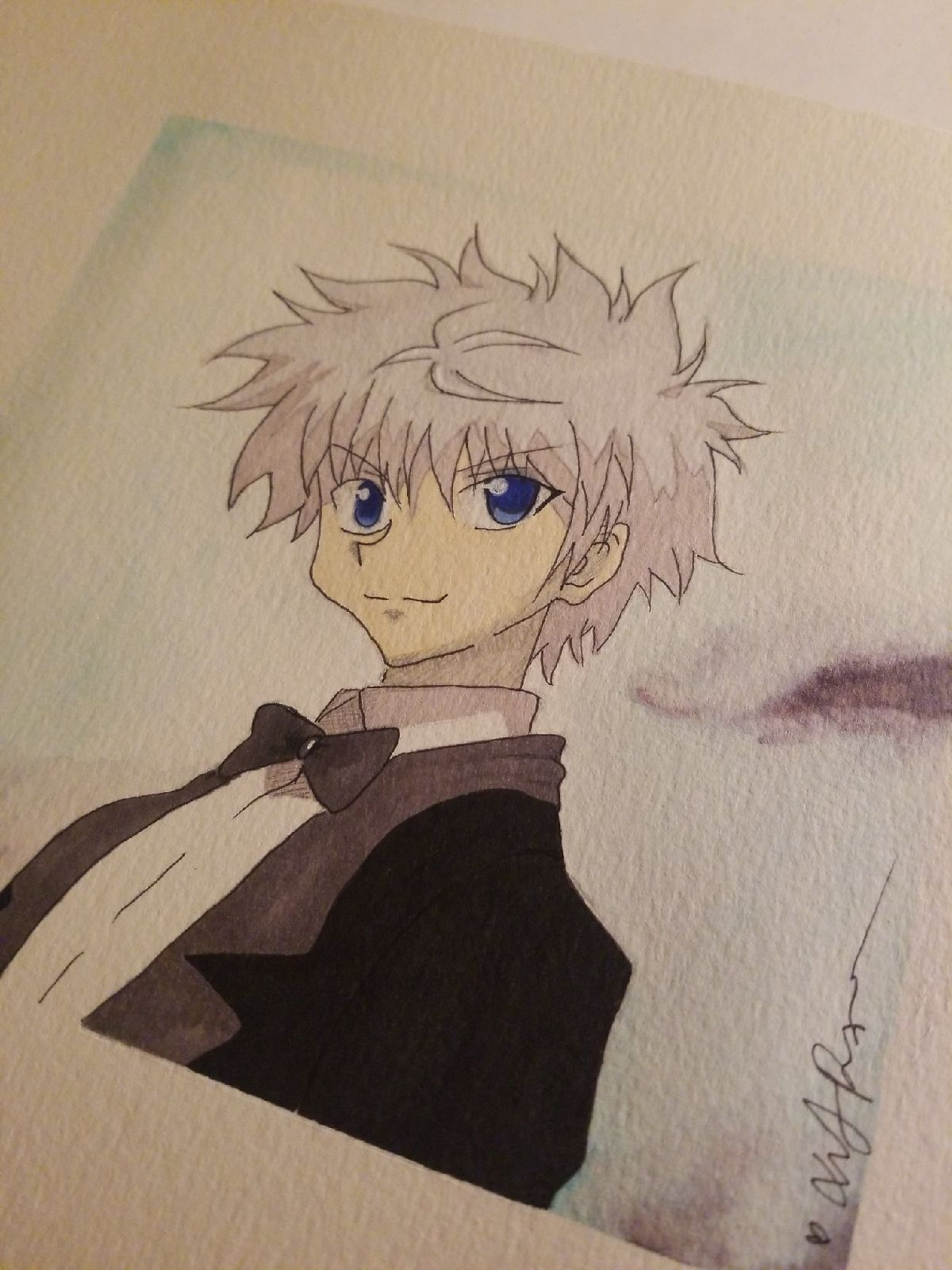 Killua hunter x hunter prismacolor art