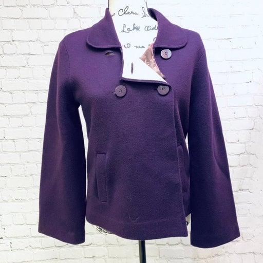 Talbots' merino wool sweater jacket