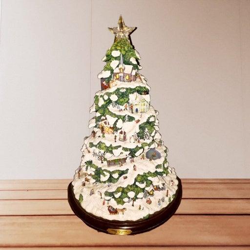 thomas kinkade village christmas tree