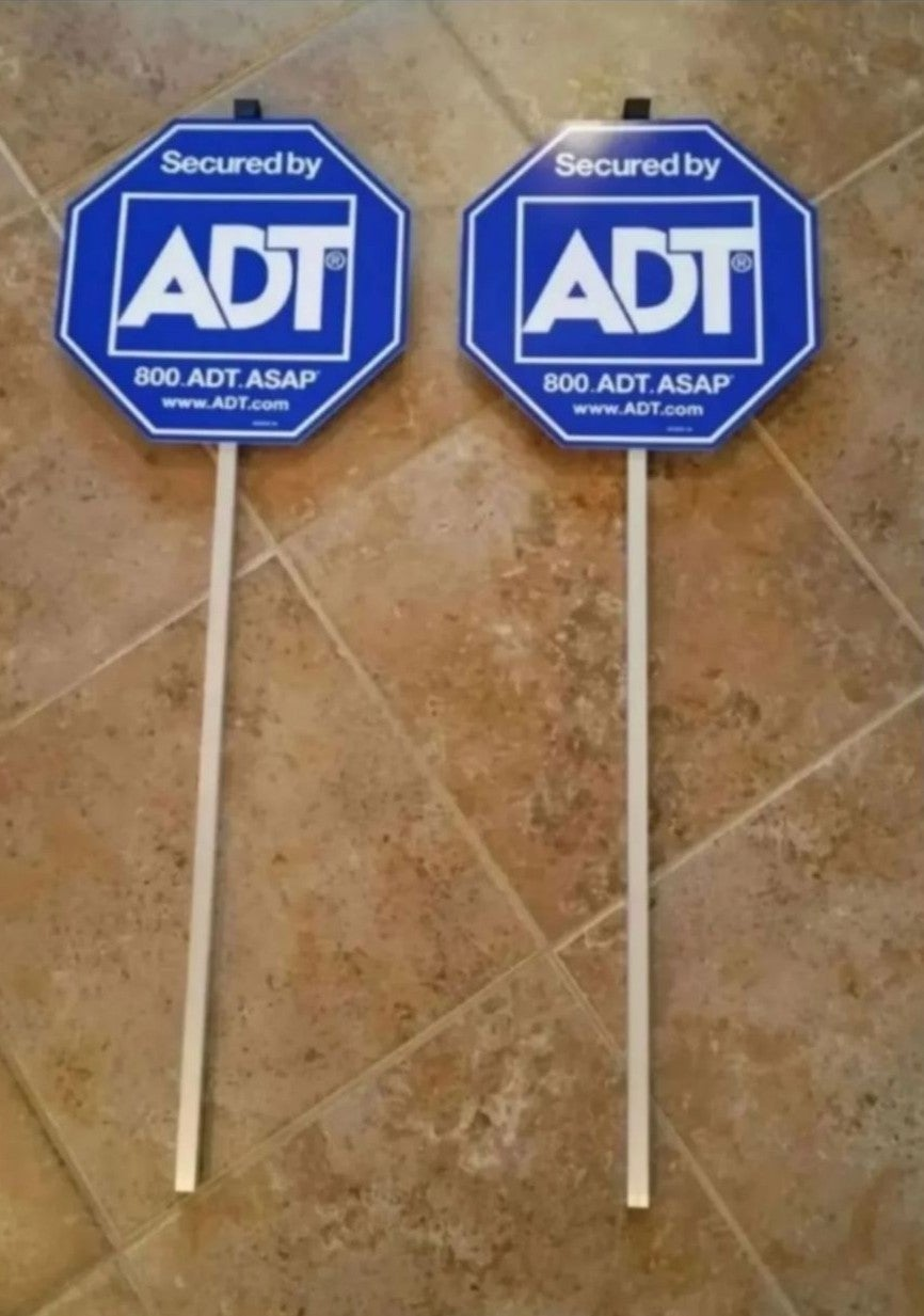 ADT Yard Security Signs