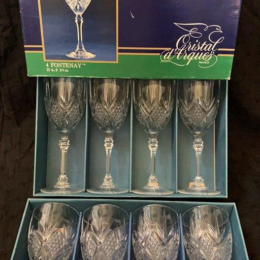 8 tall crystal cups