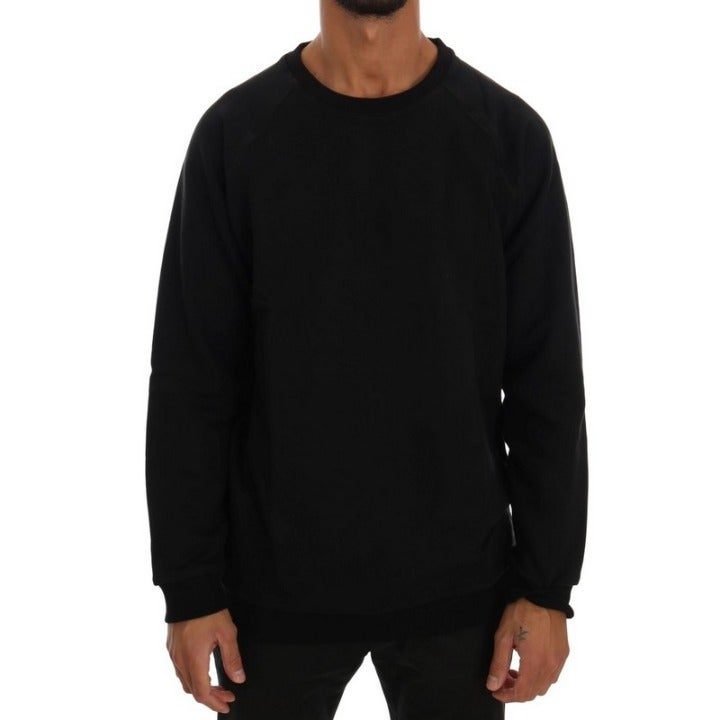 DANIELE ALESSANDRINI MEN'S BLACK SWEATER