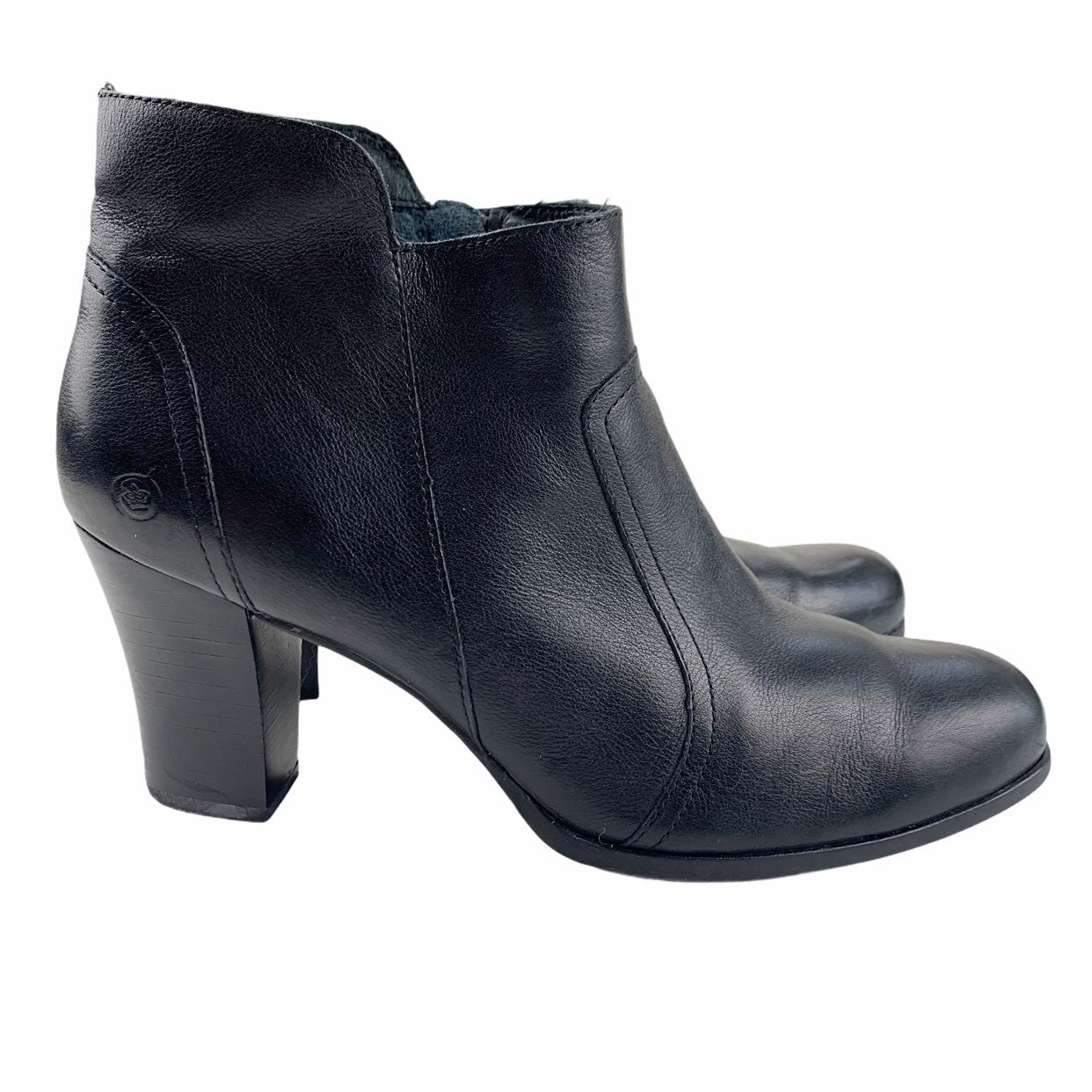 Born Black Leather Claire Booties