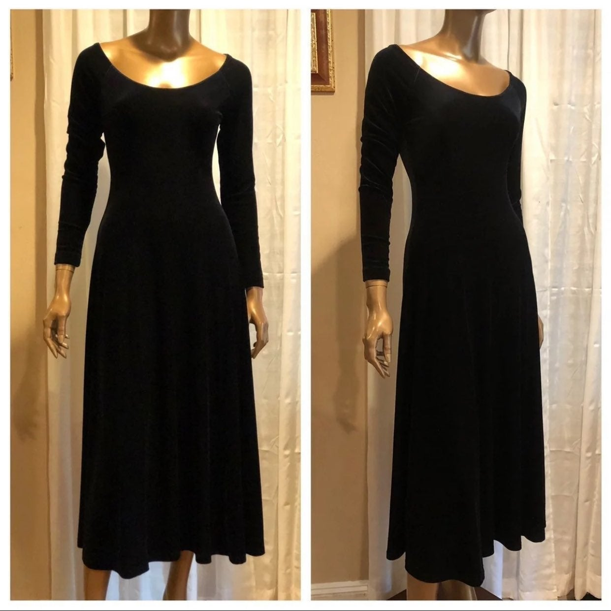 MODA INT'L Black Velvet Dress