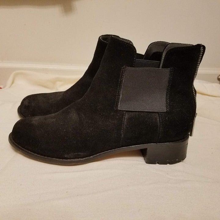 Taryn Rose black suede boots