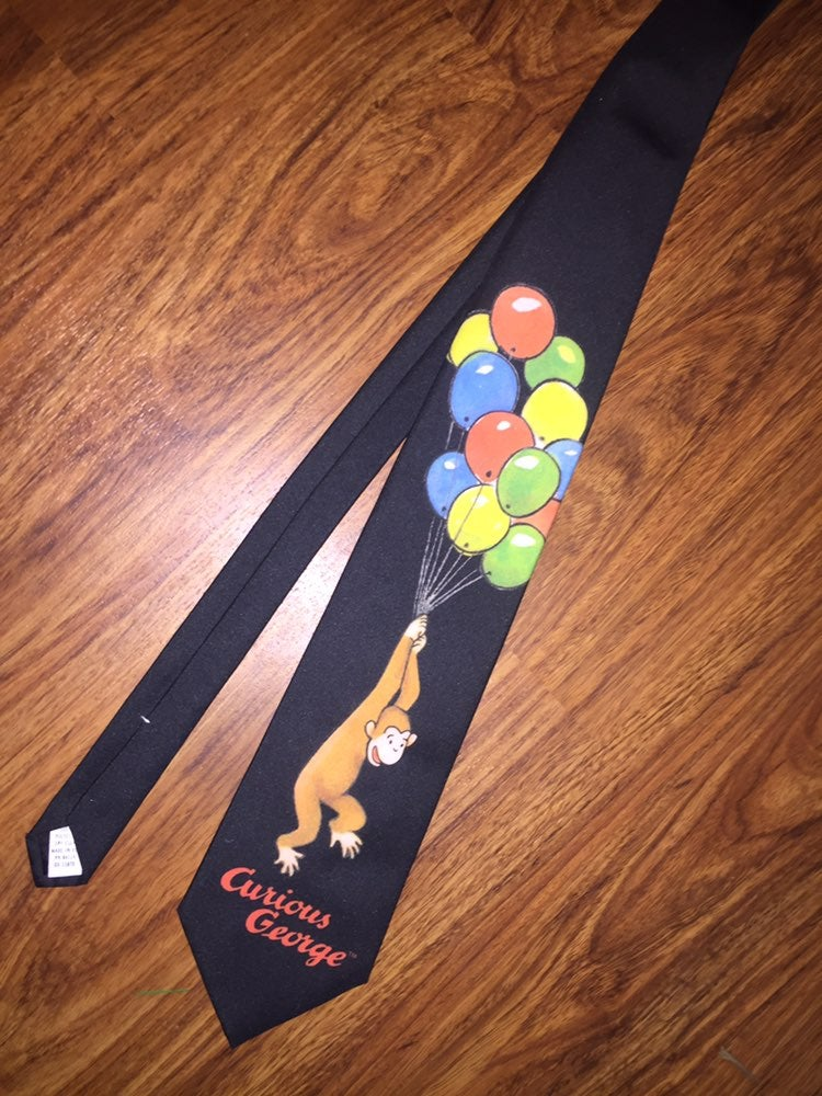 Curious  george tie. Fathers day