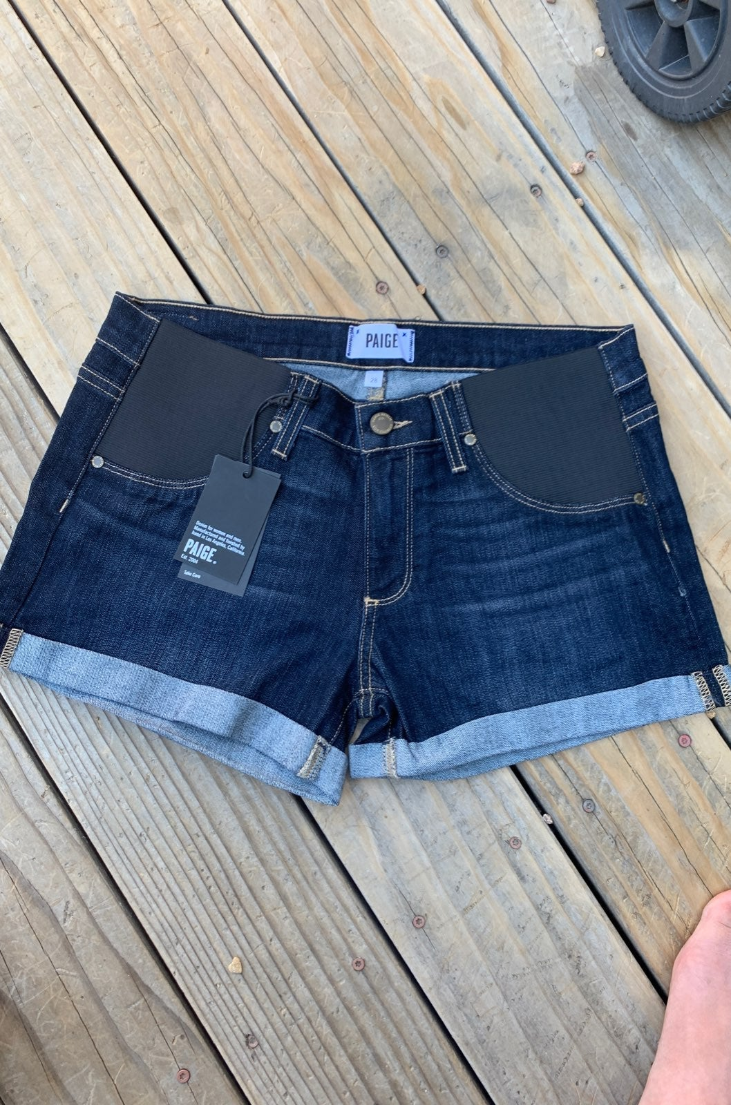 Paige maternity jean shorts