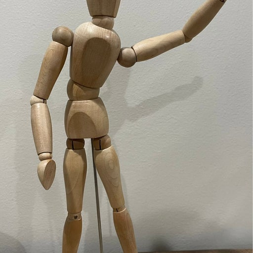 """Wood Artist Drawing Mannequin or Manikin 12"""" on base with Flexible Body"""