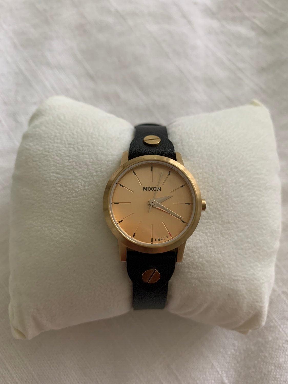 Nixon Black leather Watch