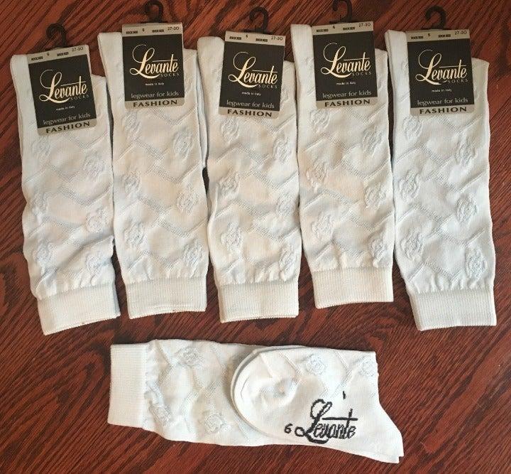 Levante Baby Blue Knee Socks. 6 pairs