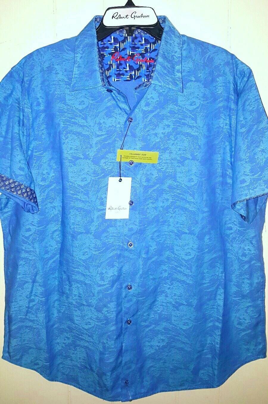 Robert Graham S/S Button Shirt Men Sz XL