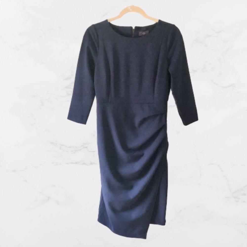 NYDJ Slimming Faux Wrap Sheath Dress- 4