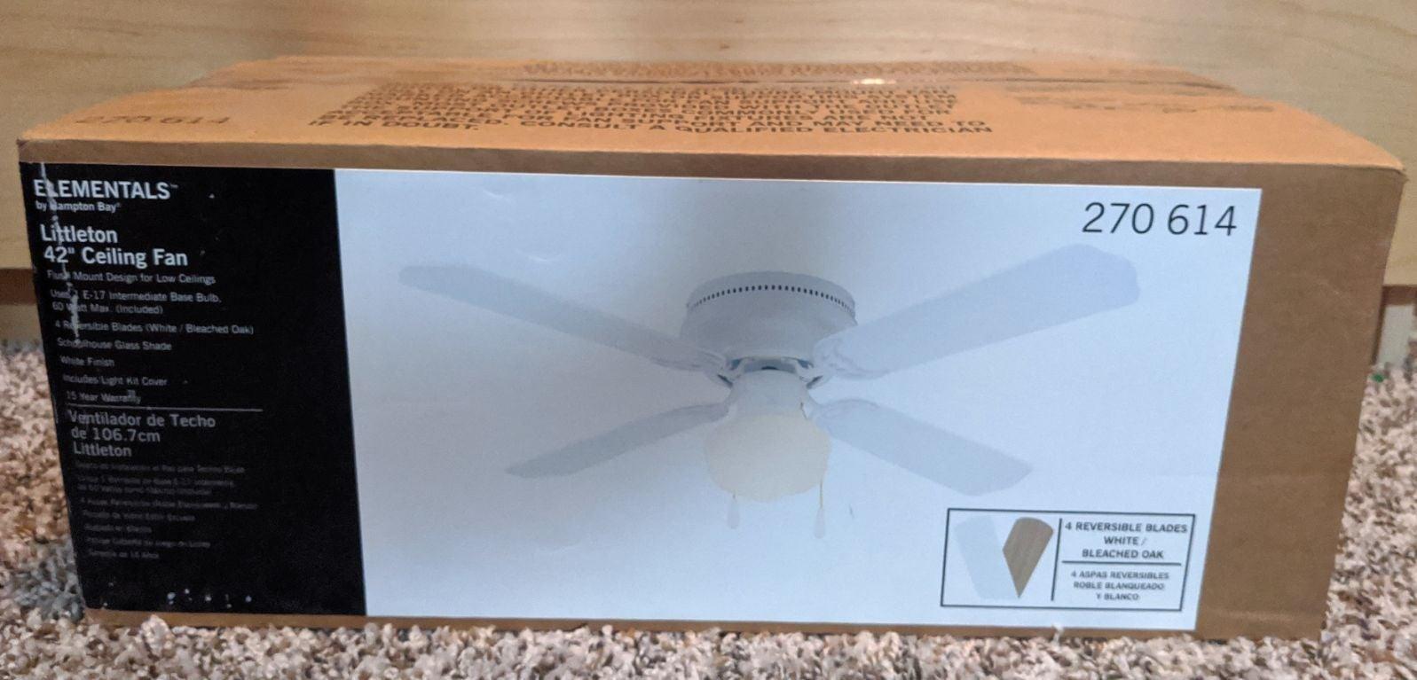 """42"""" ceiling fan kit"""
