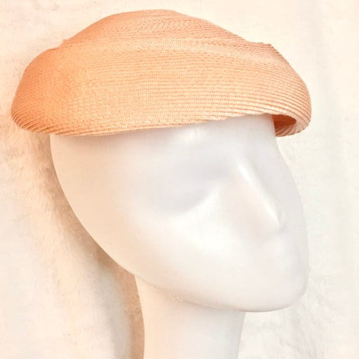 Boston Store 1950s Pink Pillbox Hat