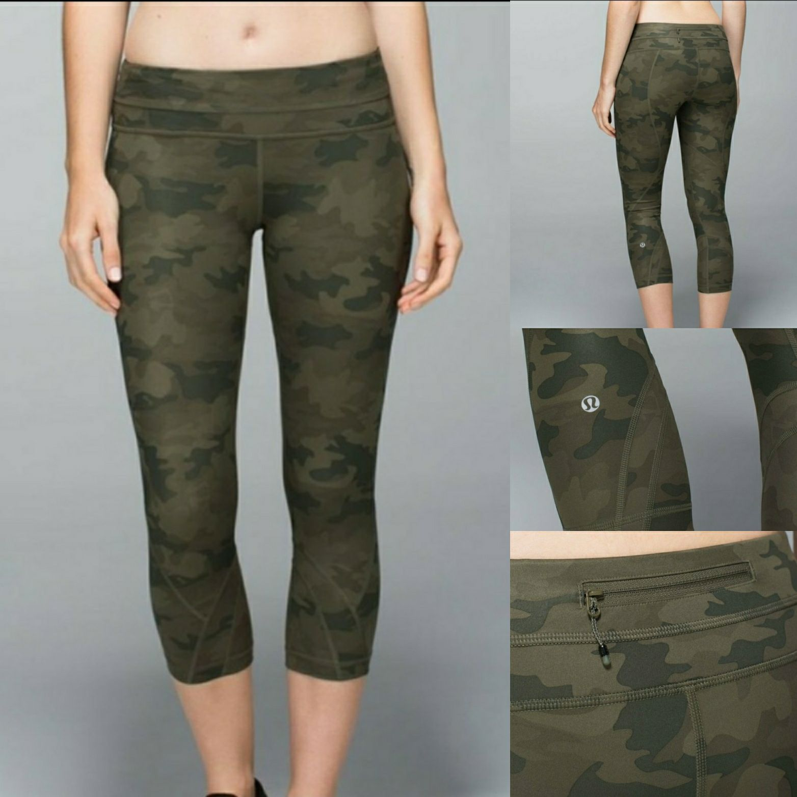 Lululemon Run Inspire Crop Camo Fatigue