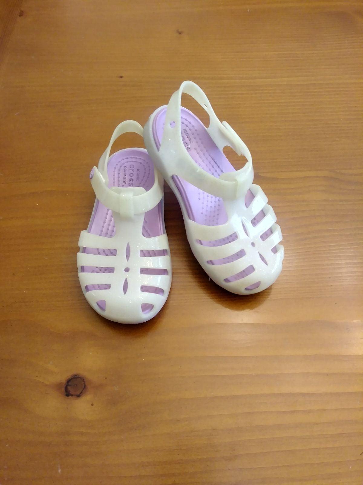 Girls Jelly Crocs Sz C 8