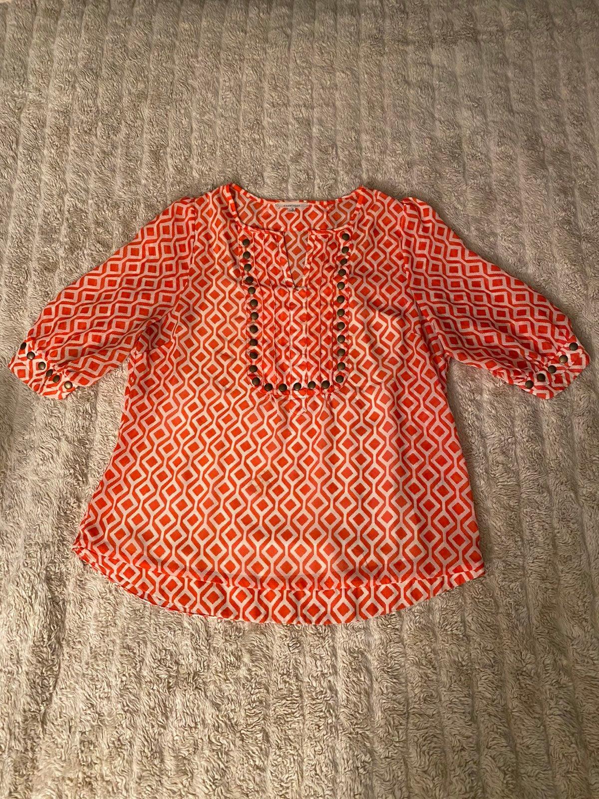 41Hawthorn studded sheer blouse