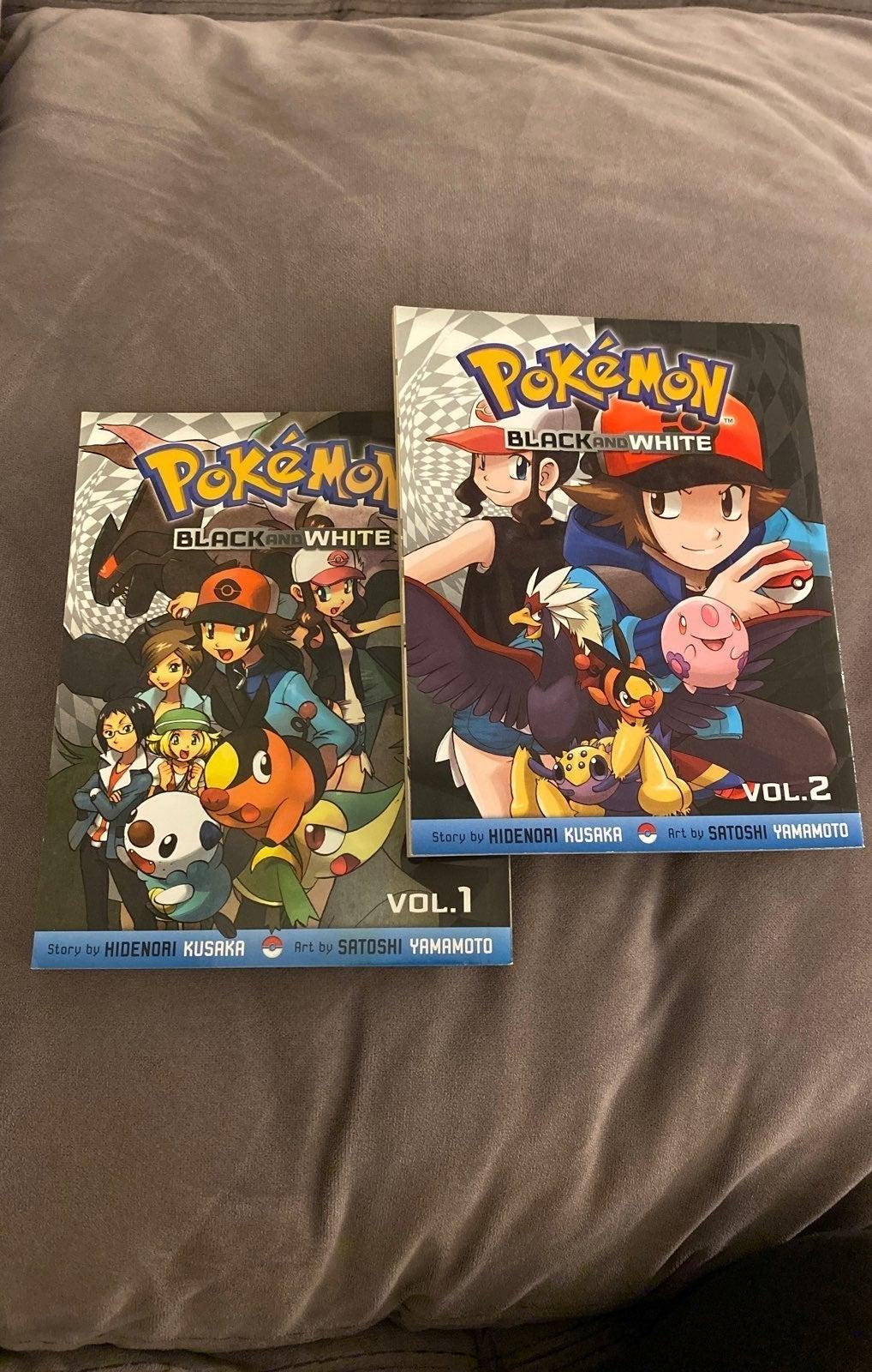 Pokemon Black and White Manga Vol 1 & 2
