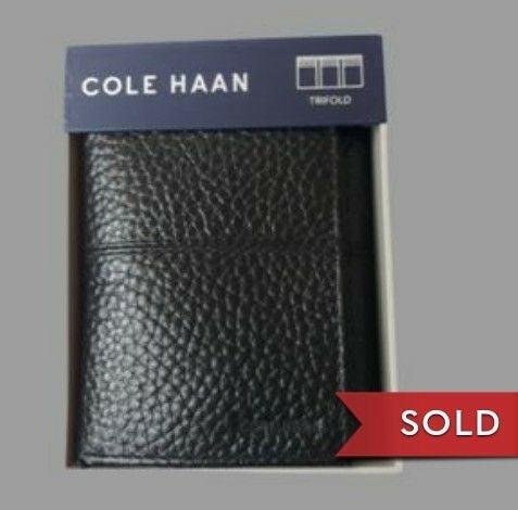 NIB Cole Hann men's wallet trifold black