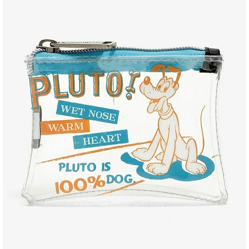 ❤Loungefly Disney Pluto Clear Coin Purse