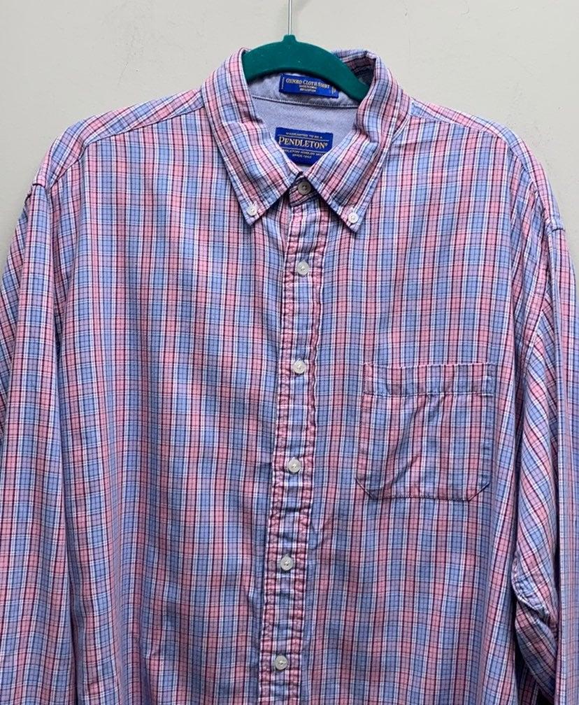 Pendleton plaid check button diwn shirt