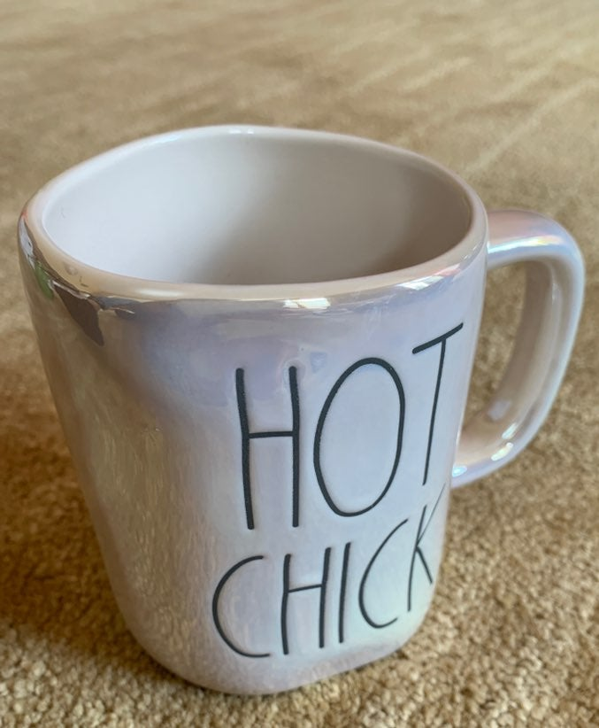 Rae Dunn Iridescent HOT CHICK Mug Easter