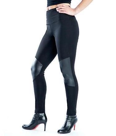 Lysse Legging Faux Leather Tummy Control