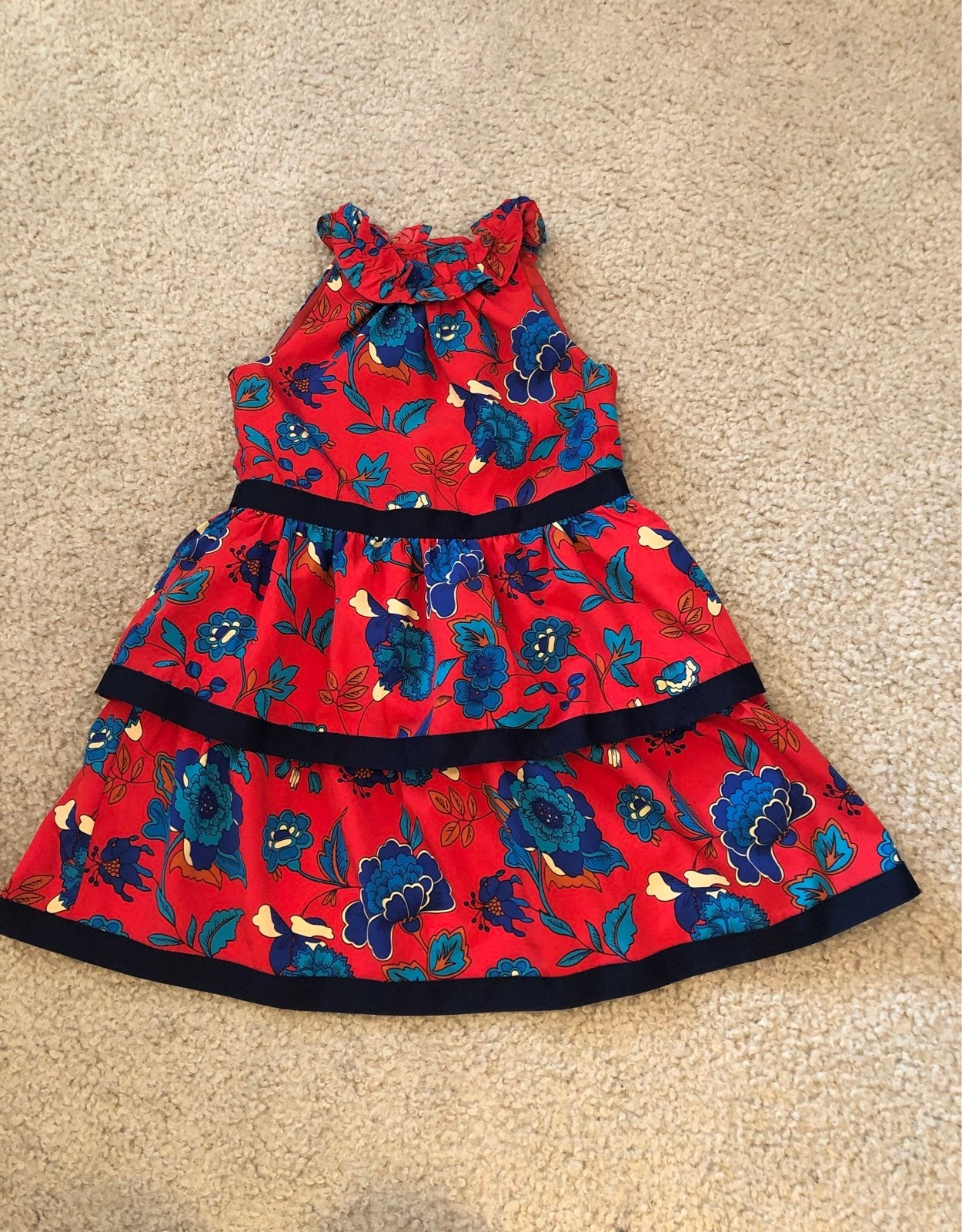 Janie and Jack red floral dress Size 2T