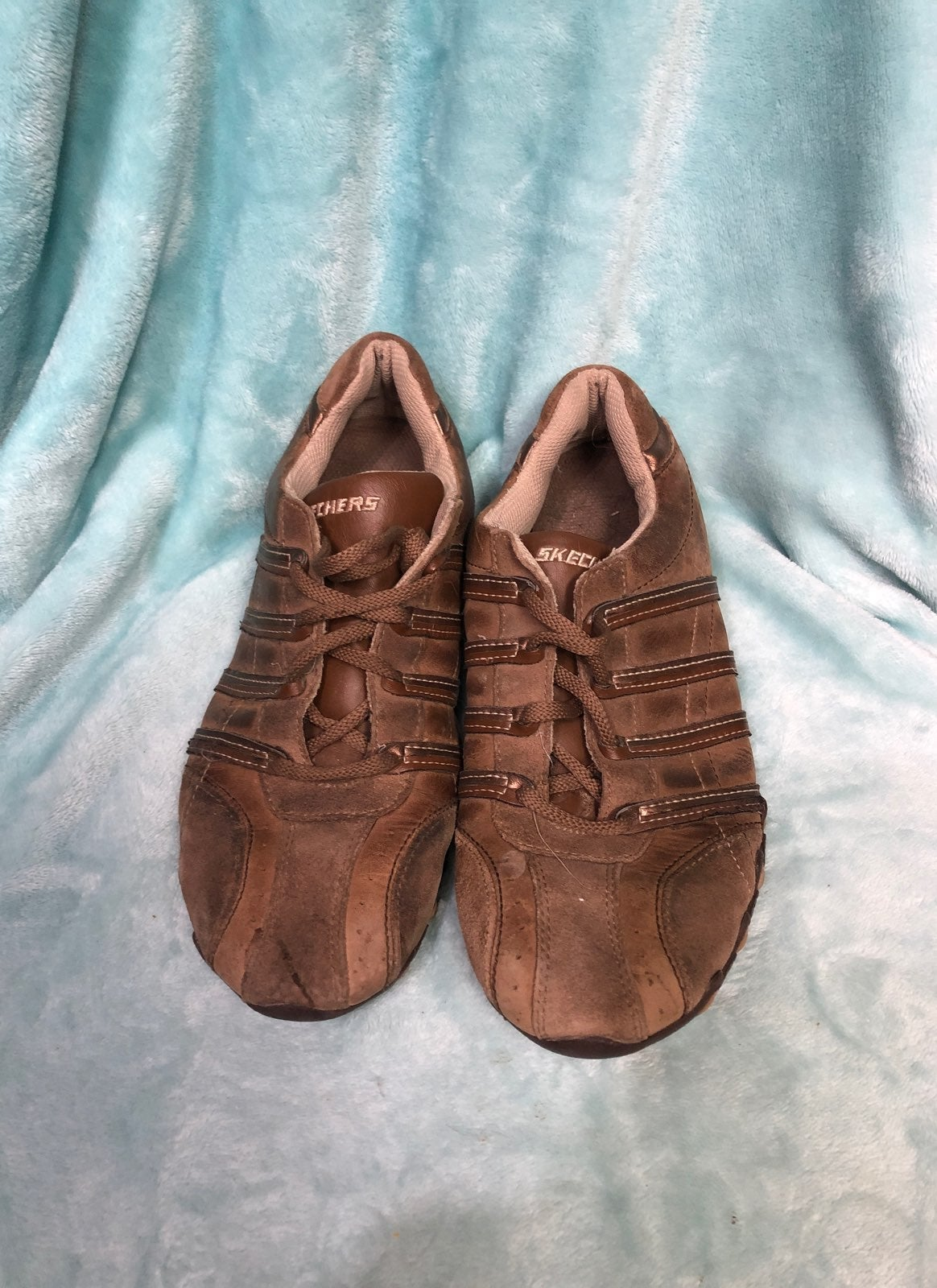 SKECHERS Genuine Leather Shoes | Mercari