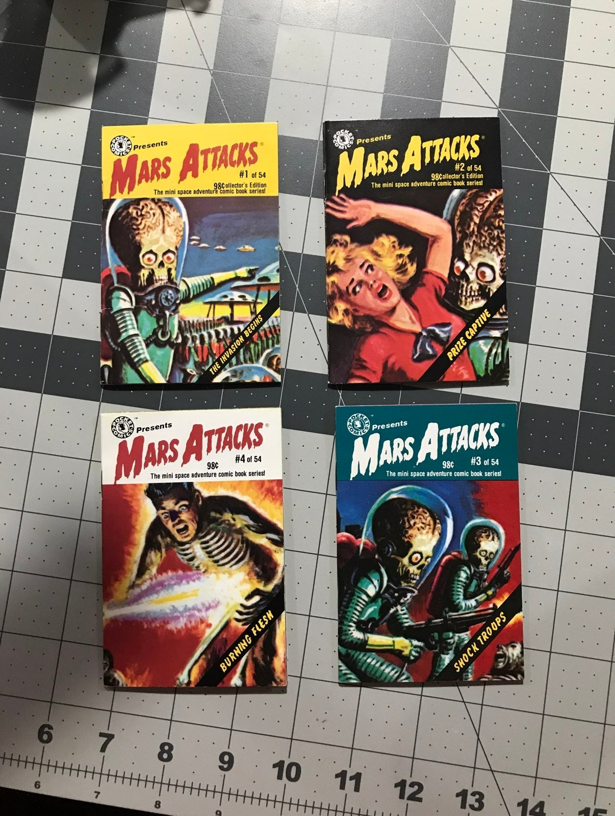 Mars Attacks Pocket Comics 1-4 1988