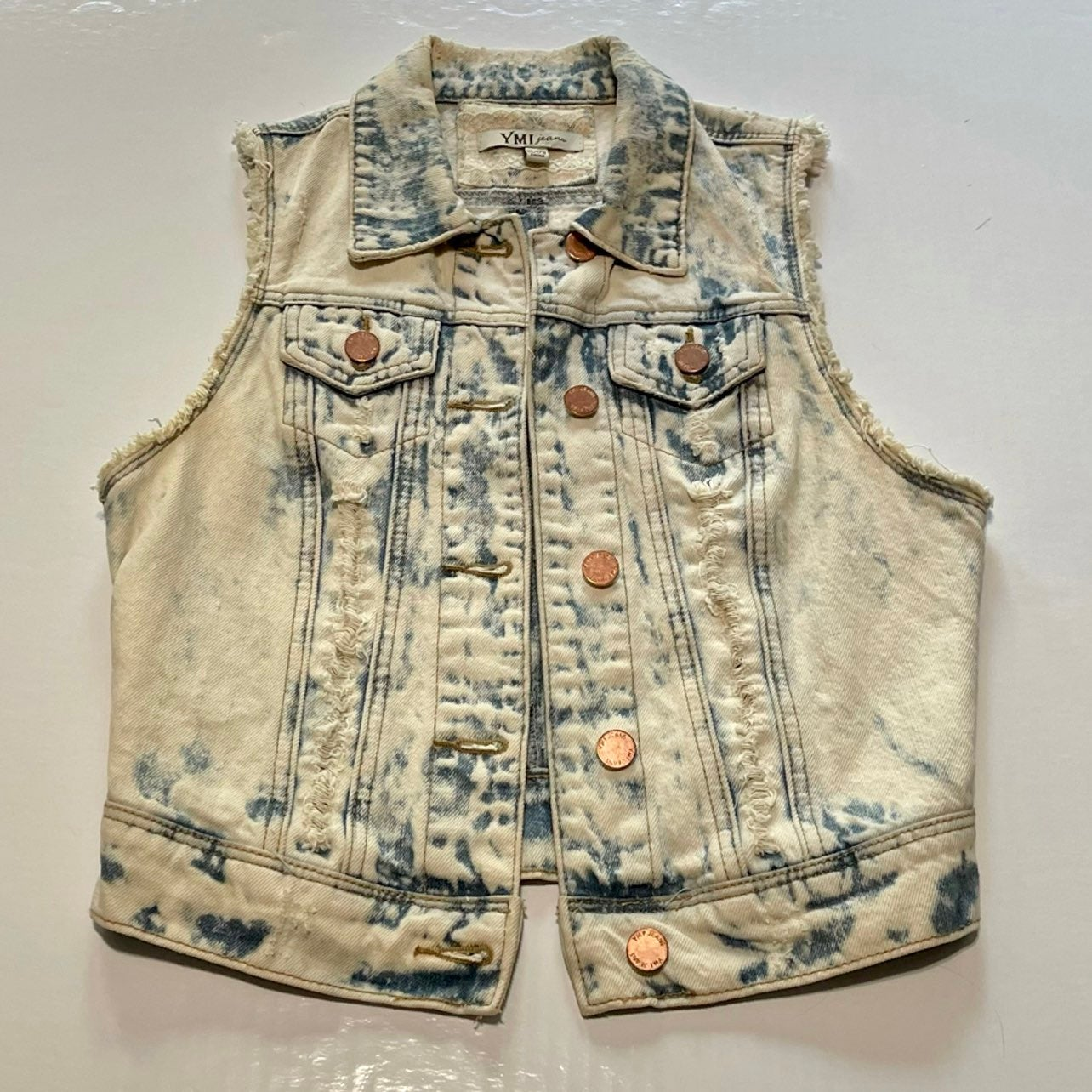 YMI Distressed Jean Vest Size XS