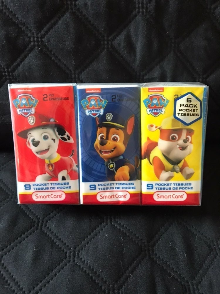 Paw Patrol pocket tissues
