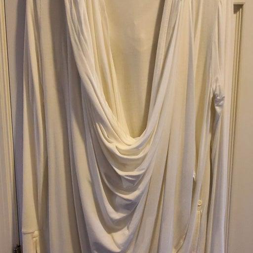 Cuddl Duds Ivory Hooded Wrap